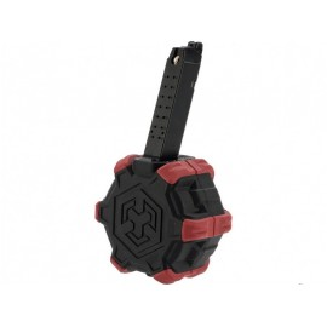 Adaptive Drum Magazine for VX Series Pistol bk/red [AW-Custom]