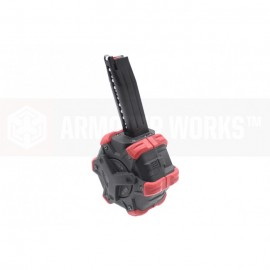 Adaptive Drum Magazine for HX Series Pistol bk/red [AW-Custom]