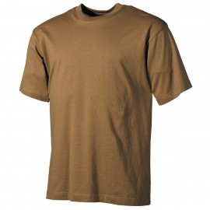 US T-Shirt (short-sleeved) coyote L [MFH]
