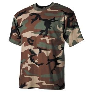 US T-Shirt (short-sleeved) woodland XL [MFH]