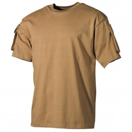US T-Shirt (short-sleeved) coyote L [MFH]