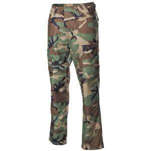 US Combat Pants BDU Reinforced Knees/Seat woodland M [MFH]
