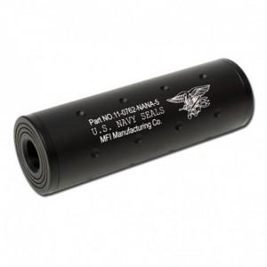 Metal Silencer Navy Seal 107x35mm bk [FMA]