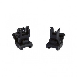 Polymer RIS Mount Sight Set Front and Rear [Dytac]