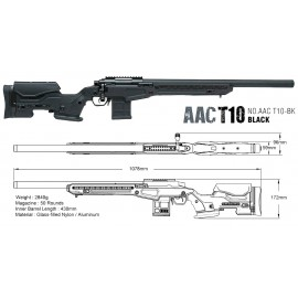 Sniper AAC T10 Short Bolt Action bk/grey [Action Army]