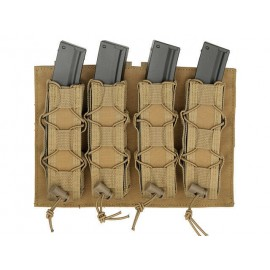 Magazine Pouch Speed Quad MP5/SMG coyote [8Fields]