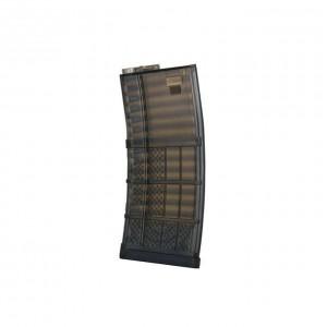 Advanced Magazine Polymer Mid-Cap M4/AR-15 Translucent 120BBs bk [Kublai]