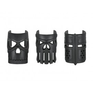 Ornamental Replaceable Mask Grip (3pcs) bk [Kublai]