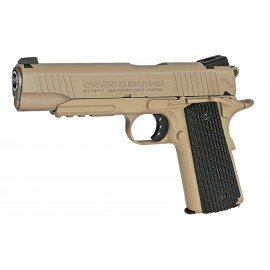 Pistola 1911 Military Rail 4.5mm CO2 tan [Swiss Arms]
