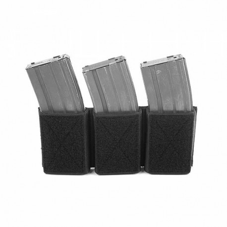 Triple Velcro Mag Pouches for 5.56 black [Warrior]