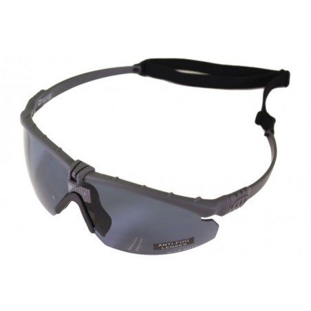 Tactical Battle Glasses Grey Frame/Smoked Lenses [NP]