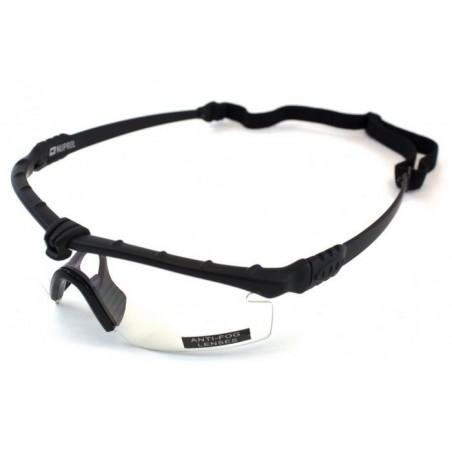 Tactical Battle Glasses Black Frame /Clear Lenses [NP]