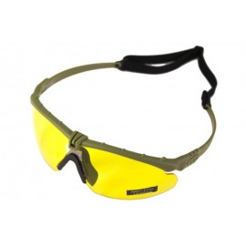 Tactical Battle Glasses Green Frame /Yellow Lenses [NP]