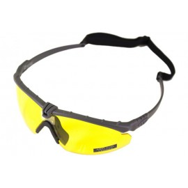 Tactical Battle Glasses Grey Frame /Yellow Lense [NP]