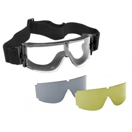 Tactical Goggles with 3 Lens [Royal]