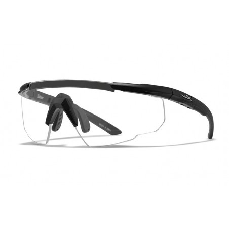 Glasses SABER ADVANCED Clear Matte black Frame with Headband and Bag [WileyX]