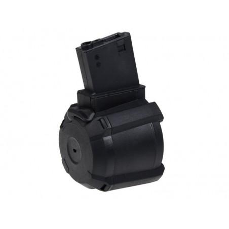 Electric Drum Magazine for M4 1000BBs black [Saigo]
