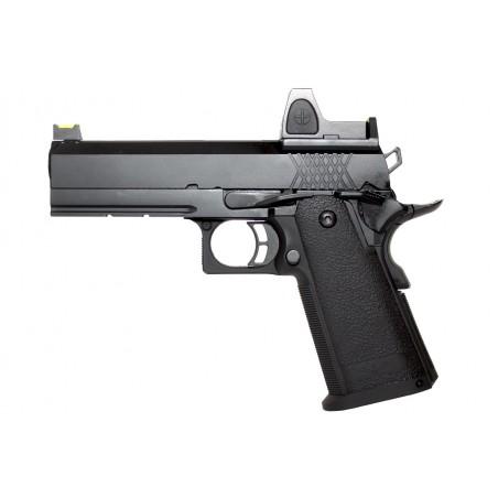 Pistola Hi-Capa 4.3 Gas Blowback with Red Dot Sight Gas Black [Raven]