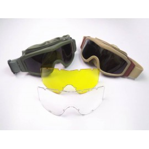 Goggles 3 lentes tan