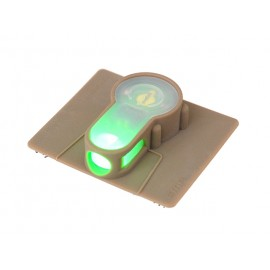 LED strobe velcro green light - tan