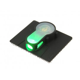 LED strobe w velcro green light - bk