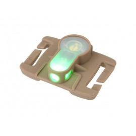LED strobe molle red light - tan