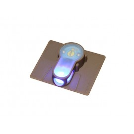 LED strobe w velcro blue light - tan