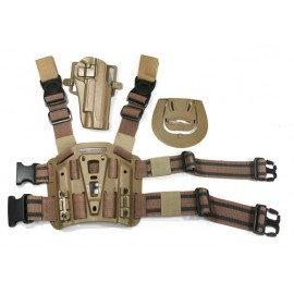 Paddle & Belt holster leg 1911 tan